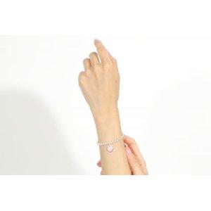画像2: TIFFANY&Co[ティファニー]   リターン トゥ ハート ビーズ ブレスレット(L) ダークピンクエナメルフィニッシュ 並行輸入品